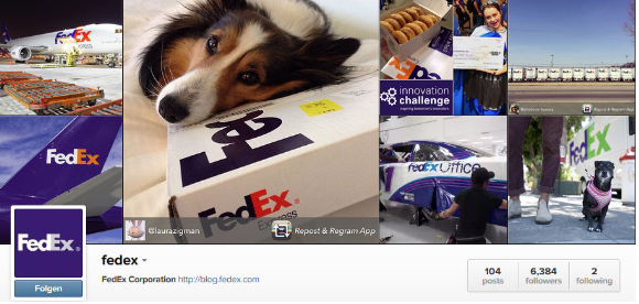 fedex instagram