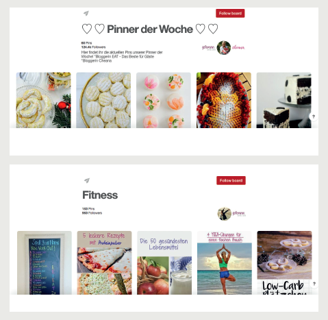 Beispiele Shared Pinterest Boards