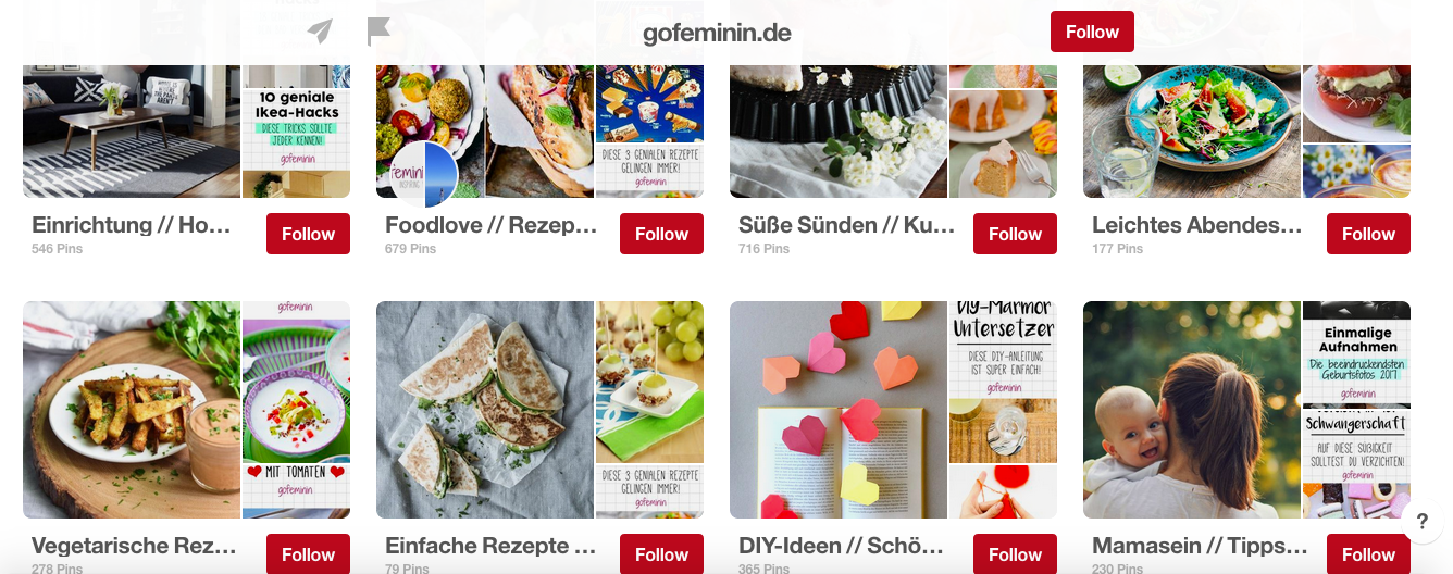 Pinterest Boards Gofeminin