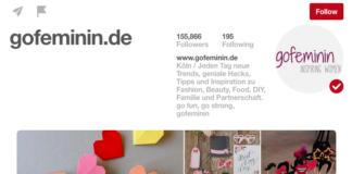Screenshot Pinterest Profil gofeminin