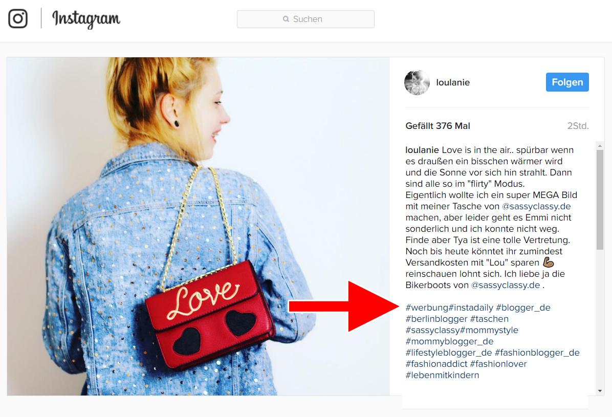 Influencer Marketing Werbekennzeichnung Social Media und Recht